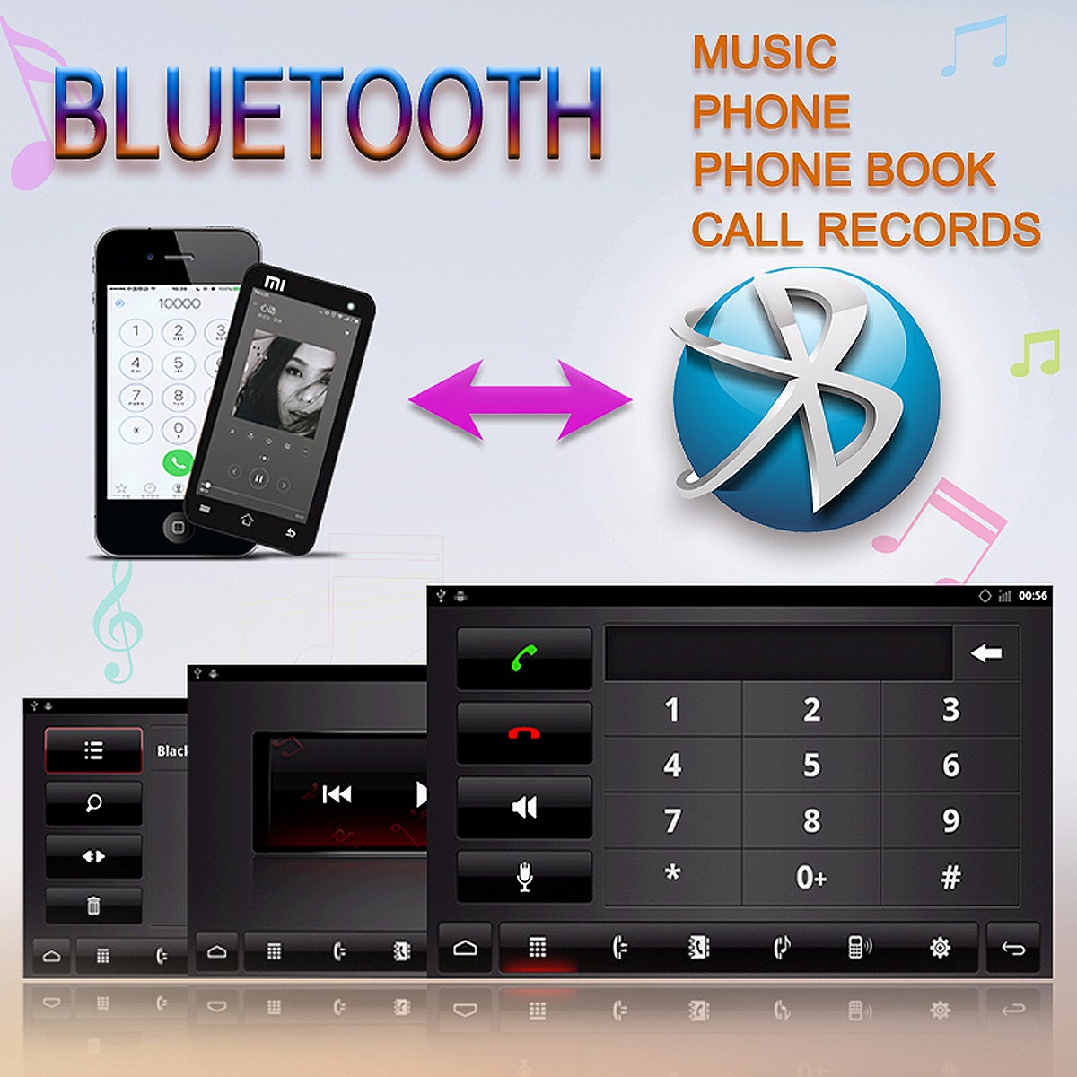 full capacitive touch screen audio