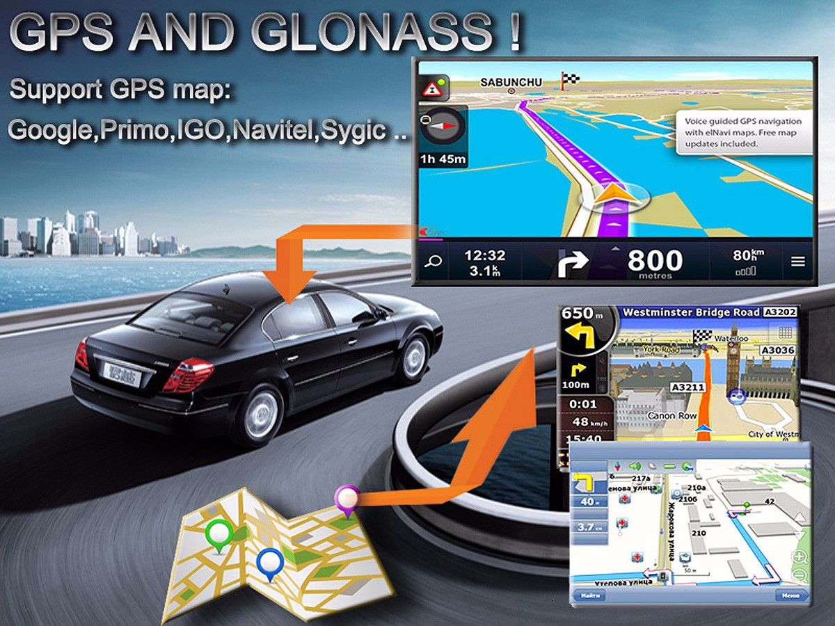 Ford Fiesta Car GPS navigation Android WiFi 1080P